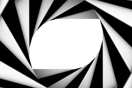 marco blanco y negro: Espiral de blanco y negro  Foto de archivo