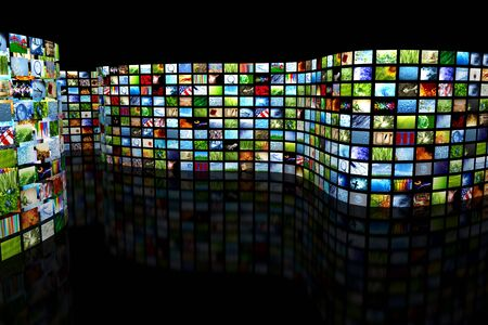 hdtv: Collection of images Stock Photo