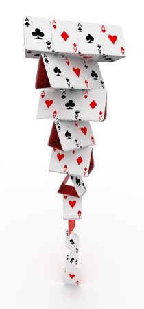 play card: Tower of cards
