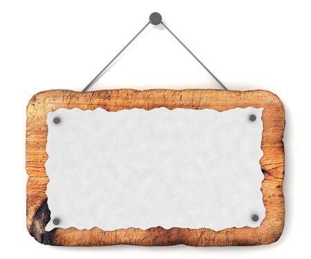 Empty wooden sign photo