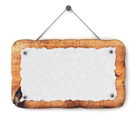 letreros: Signo de madera vac�a  Foto de archivo