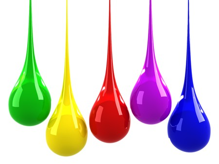Colorful drops photo