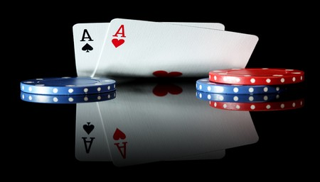 poker cards: Pair of Aces
