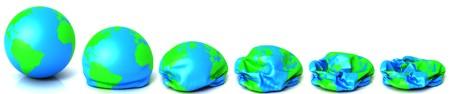 Earth deflating Stock Photo - 7914660