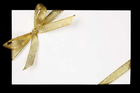 Golden ribbon and bow photo