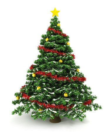festive background: 3d Christmas tree