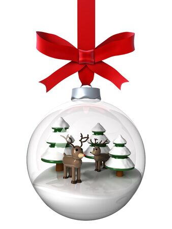 Christmas ornament with reindeer photo