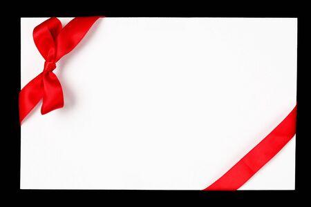 Rood lint en boog Stockfoto