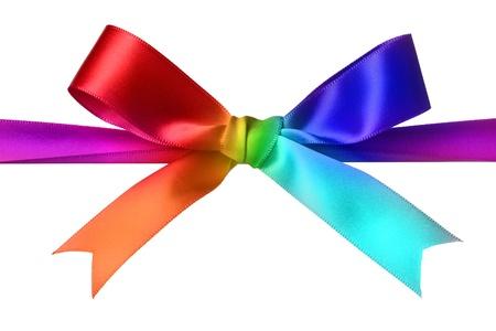 yellow ribbon: Colorful bow Stock Photo