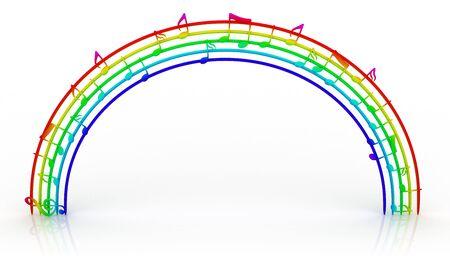 clave de fa: Arco iris de m�sica