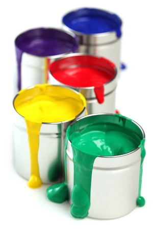 pigment: Cans of paint