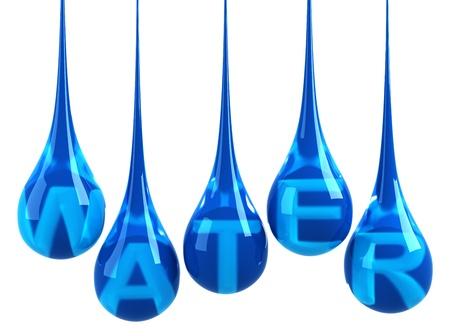 drops of water: Water drops