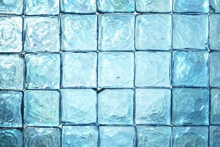 ice crystals: Glass background