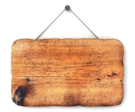 Lege houten teken