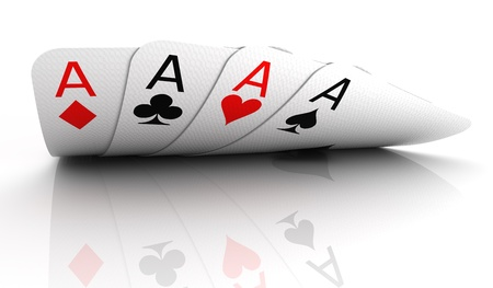 ace of diamonds: Four aces