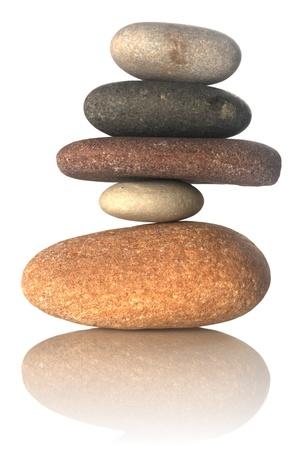 Stacked stones isolated on white Stock Photo - 8670796