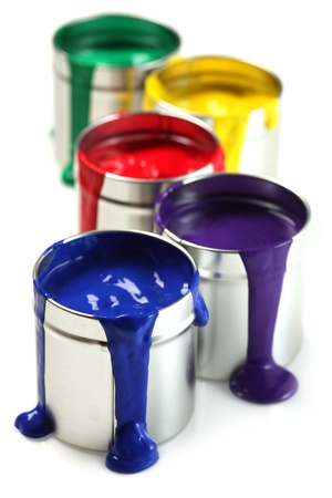 tin: Cans of paint