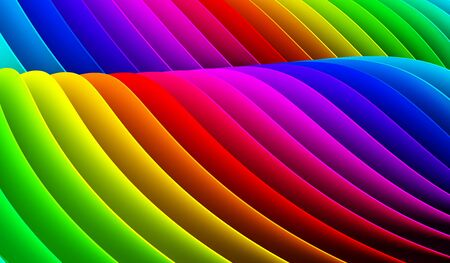 rainbow abstract: image description Stock Photo