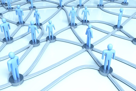 Network of people Stock Photo - 8785613