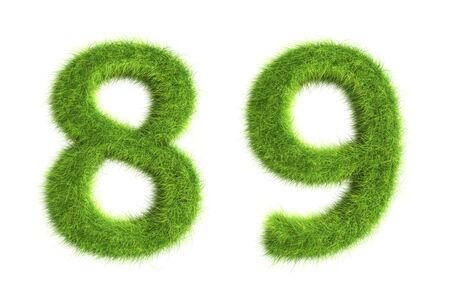 Grass numbers Stock Photo - 8919388