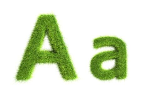 Grass letters, upper and lowercase Stock Photo - 8919374