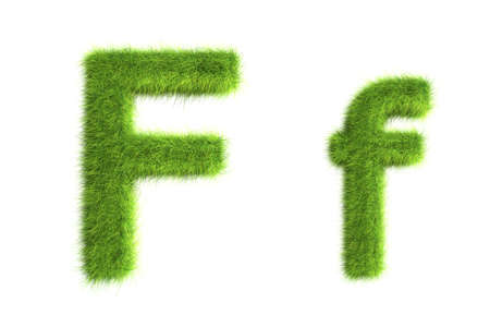 grass: Grass letters, upper and lowercase