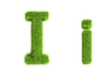 Grass letters, upper and lowercase Stock Photo - 8919358