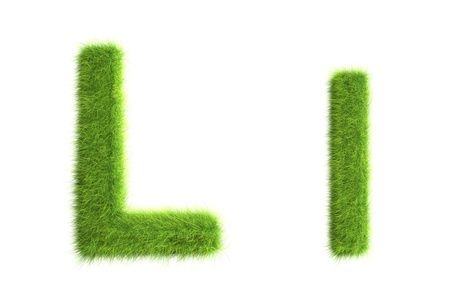 Grass letters, upper and lowercase Stock Photo - 8919357