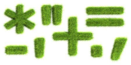 minus sign: Grass symbols