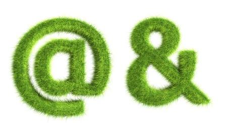 Gras symbolen Stockfoto