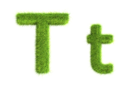草の文字、大文字と小文字