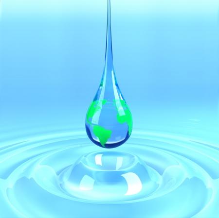 Earth water drop photo