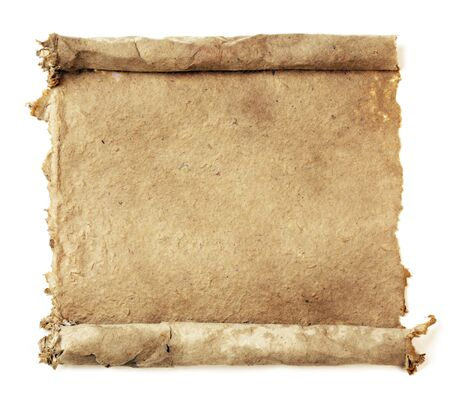 rolled scroll: Handmade paper scroll