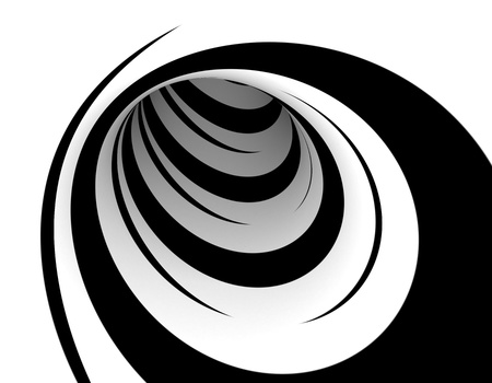 twist: Abstract black and white design Stock Photo