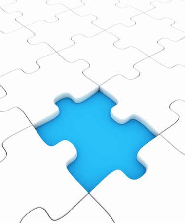 missing piece: Puzzle con la pieza que falta