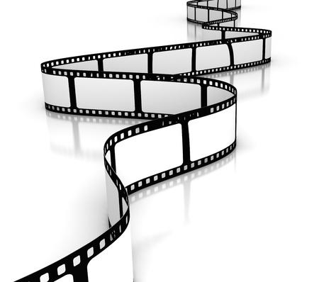 movie film reel: Pel�cula en blanco