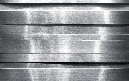 brushed aluminium: Shiny metal strips Stock Photo