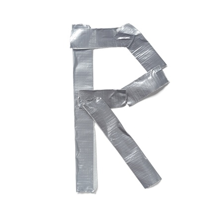 tear duct: Letters made out of tape Stock Photo
