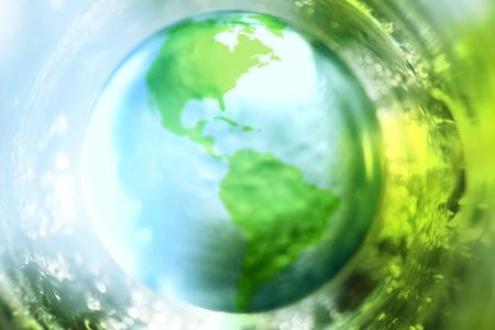 Blauwe en groene aarde achtergrond Stockfoto - 9343662