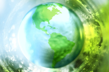 Blue and green earth background photo