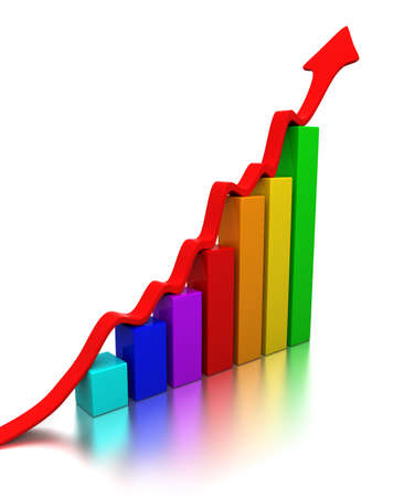 Colorful chart Stock Photo - 9343647