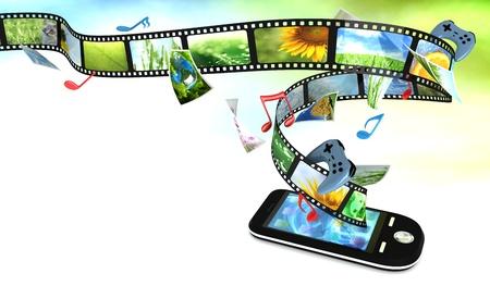 rutsche: Smartphone mit Fotos, Video, Musik und Spiele