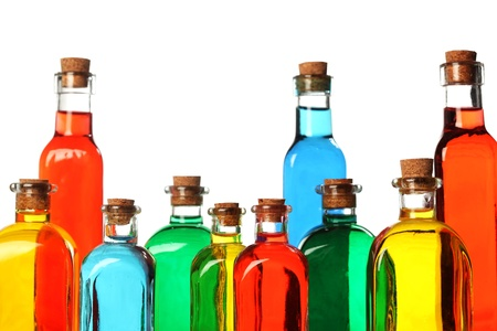 Colorful glass bottles Stock Photo - 9394748