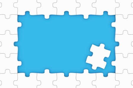 Puzzle pieces frame photo
