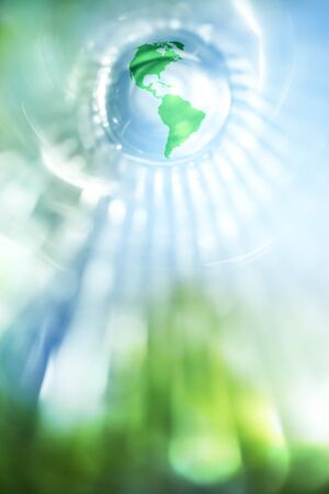 Blue and green earth background Stock Photo - 9448680