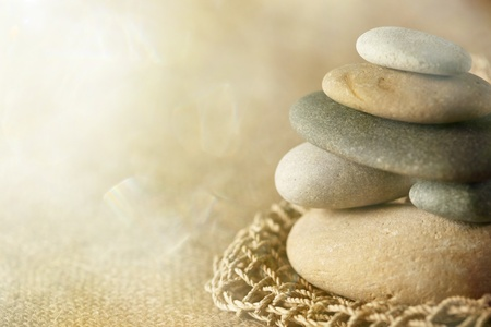 Gestapelde stenen Stockfoto