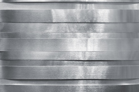 aluminum: Shiny metal strips Stock Photo