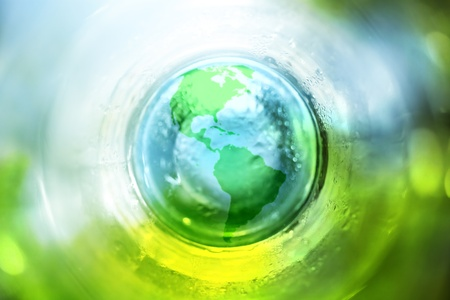 Blue and green earth background Stock Photo - 9631678