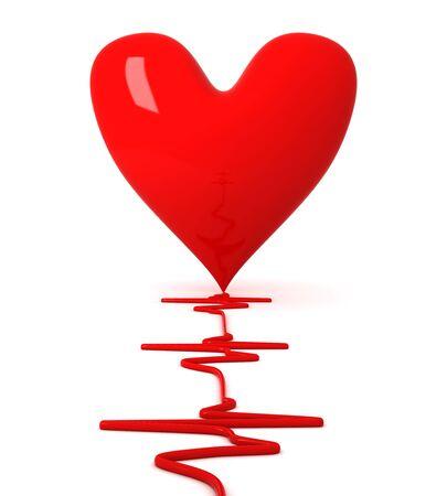 Herzschlag Standard-Bild - 9631672