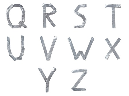 ducts: Letters made out of tape Stock Photo